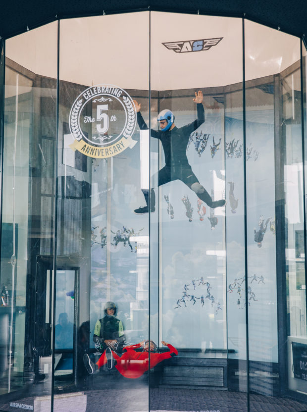 Up, up and away at Airspace Indoor Skydiving