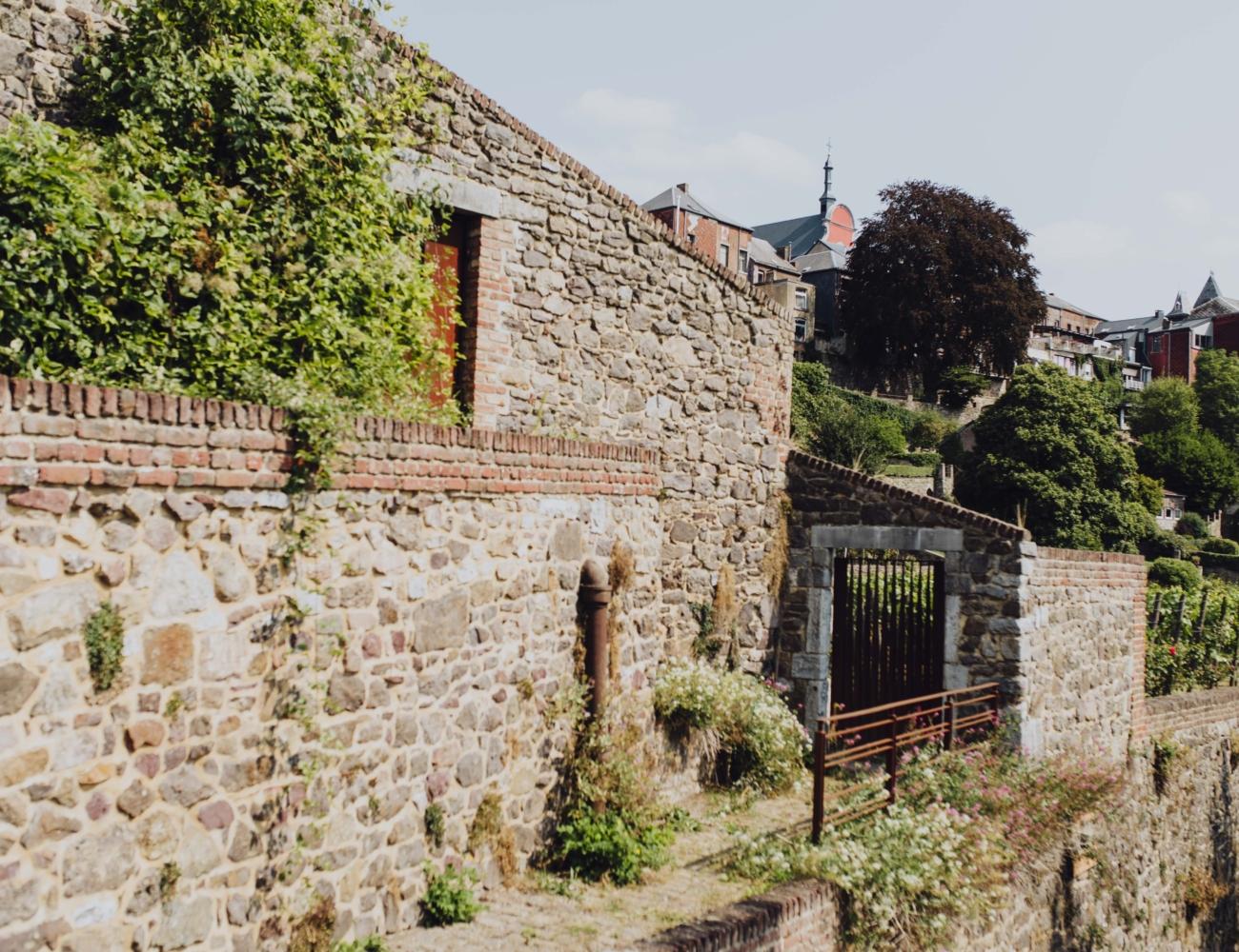 180828 Thuin Centre Historique Jardin Bois Avec Oevres Quartier Des Bateliers 40