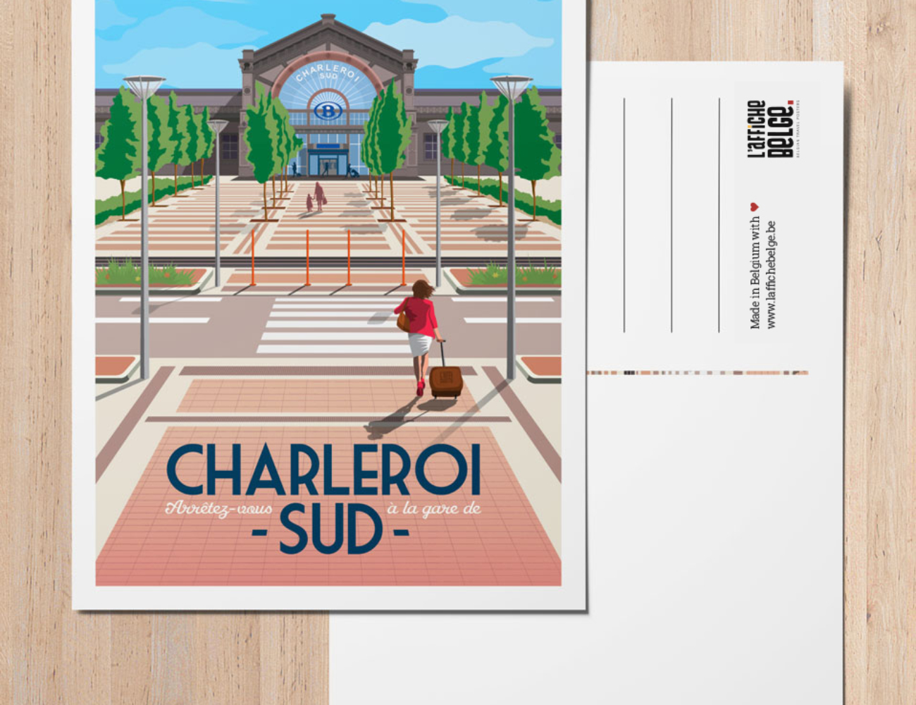 Carte postale gare