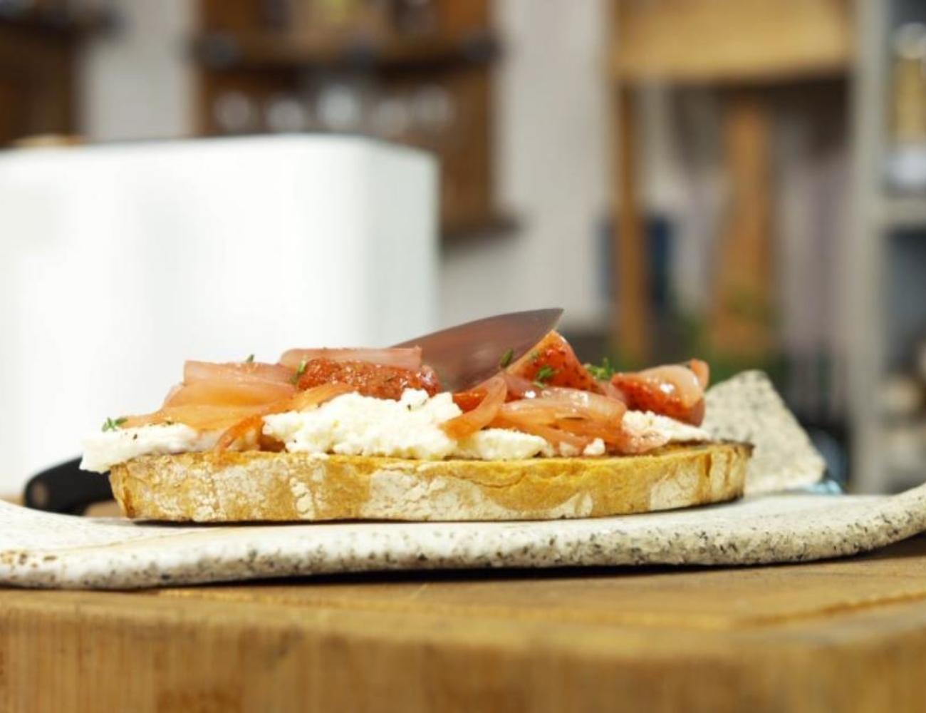 Toast fraises gerpinnes